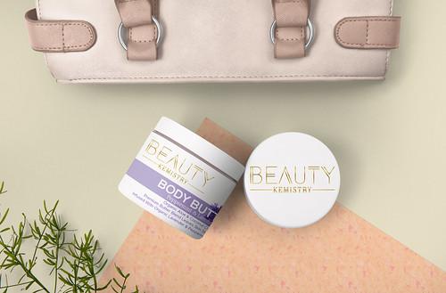 Beauty Kemistry Label Mockup