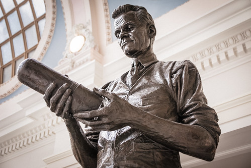 Philo Taylor Farnsworth Statue, Utah State Capitol Building, Salt Lake City, Utah, United States of America.