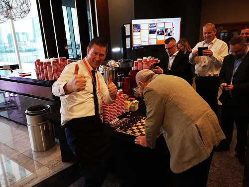 Garry Kasparov at Imagine by Automation Anywhere. Inter Continental Hotel 02 London 19-21st March 2019  .   With Mr Hobbs Coffee providing 3 Pop up Espresso Bars in the 5 Star Hotel and Conference Centre, with our team of Barista's