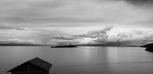 The Island of the Moon (Isla de la Luna), 3,812 meters, lake Titicaca, Bolivia.