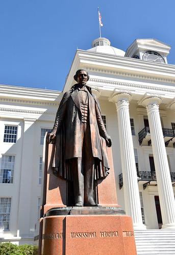 Jefferson Davis Statue -- Alabama State Capitol Montgomery (AL) March 2019