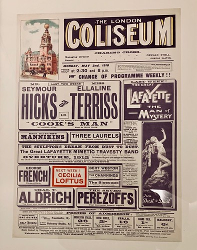 Poster Displayed at London Coliseum