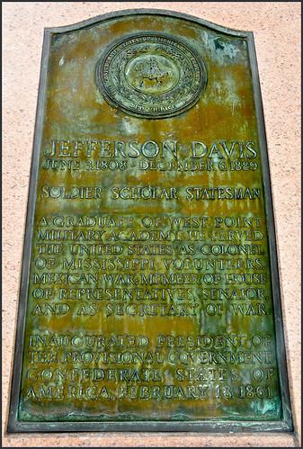 'Jefferson Davis (1808-1889) - Soldier Scholar Statesman' -- Plaque at the Alabama State Capitol Montgoemry (AL) March 2019