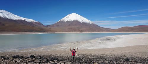 The Green Lagoon (Laguna Verde), Bolivian Highlands (Altiplano Boliviano), Sur Lípez, Potosí, Bolivia.