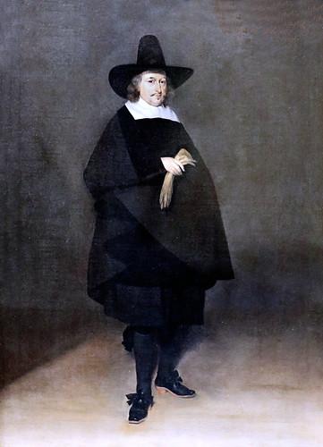 IMG_5663 Gérard Ter Borch. 1617-1681. Münster Amsterdam  Jan Roever, maire de Deventer Jan Roever, Mayor of Deventer. 1661.    Hambourg Kunsthalle.