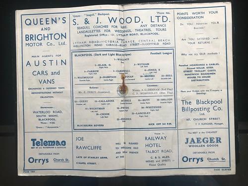 1936-37 Blackpool 2 v 0 Blackburn Rovers