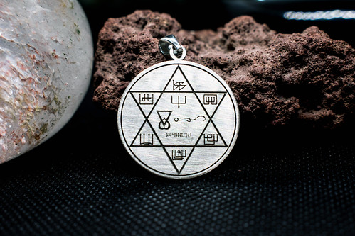 Silver Pendant  Archangel Anael to improve or find Love and Harmony