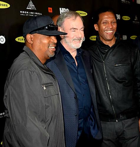 Neil Diamond with Chuck D & Keith Shocklee