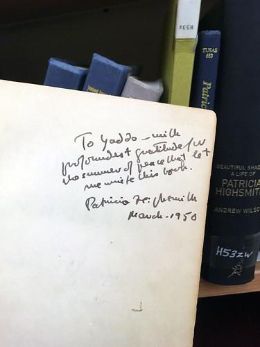 Yaddo library Patricia Highsmith