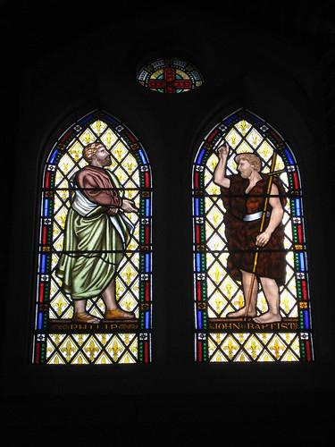The Philip the Evangelist Window and the John the Baptist Window by Ferguson and Urie; the Former Saint George's Presbyterian Church - Chapel Street, St Kilda East