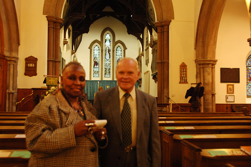 DSC_5039 Scawby Parish Church of Saint Hybald's North Lincolnshire Dorothy Masuka Southern Africa Singer with my Dad Geoff Spafford. May they both Rest in Peace RIP