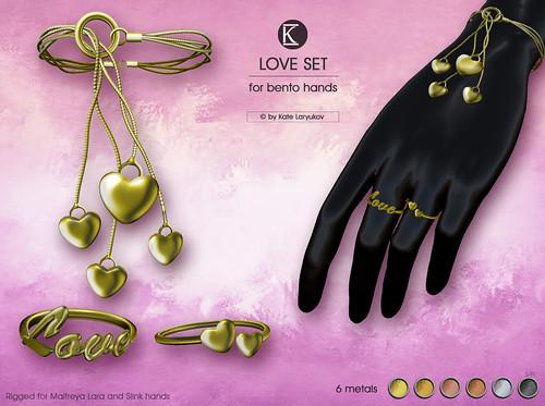 [*K*] Love Set for bento hands