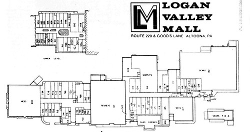 Logan Valley Mall 1982 Map