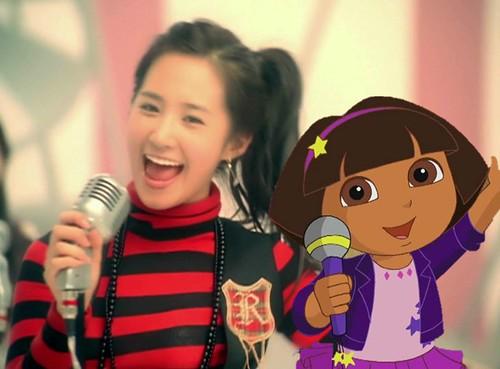 Dora singing with Girls' Generation [So Nyuh Shi Dae] 006