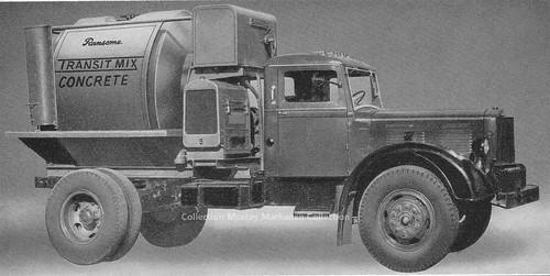 Bétonnière Ransome sur camion Brockway - Ransome mixer on Brock chassis