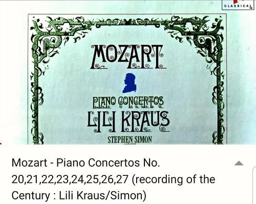 Mozart Piano Concertos / Lili Kraus, Stephen Simon