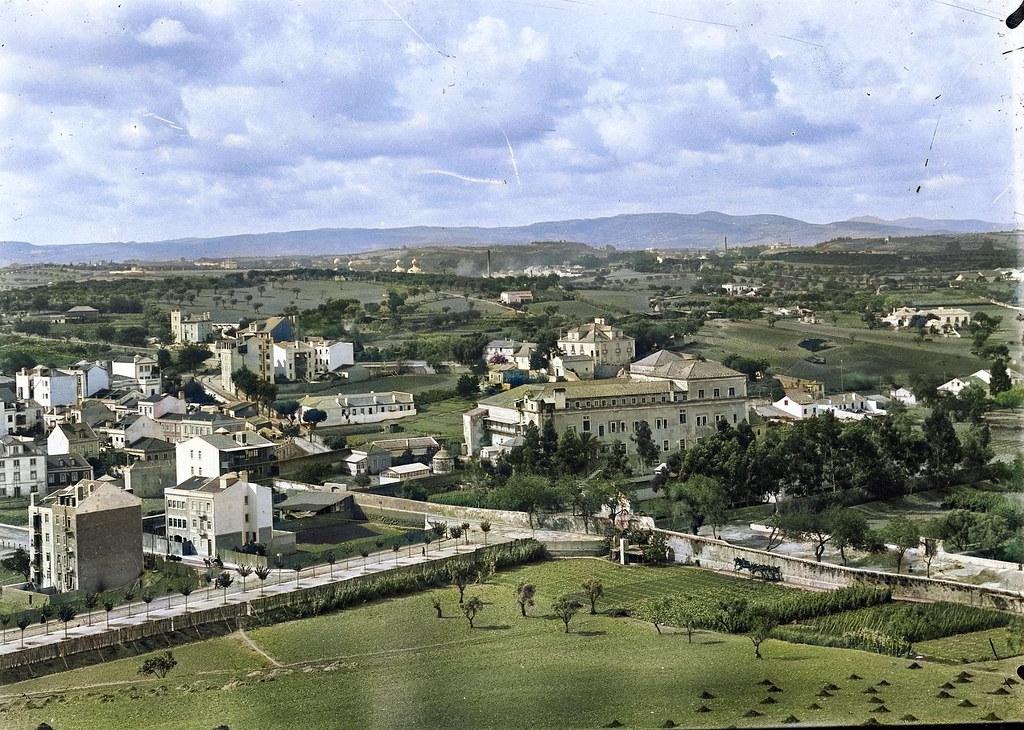 Vista da Penha de França sobre o Hospital de Arroios, Lisboa (Albero Carlos Lima, ante 1909)