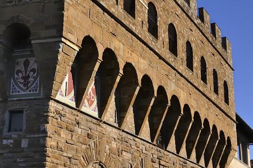 Battlement corbels, Palazzo Vecchio, Piazza della Signoria, Florence.