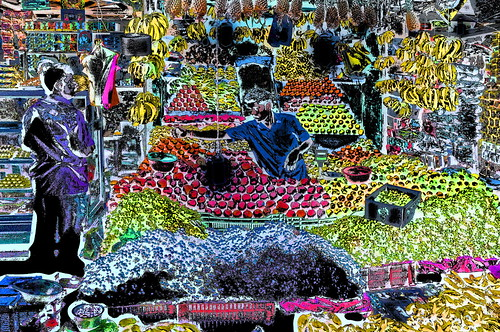 India - Tamil Nadu - Kanchipuram - Streetlife - Fruit Stall - 1ee