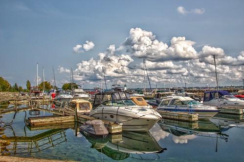 Prescott Ontario - Canada -  Sandra S Lawn Harbour  and Marina - Reflection