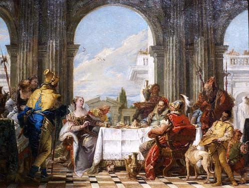 Giovanni Battista Tiepolo, Das Gastmahl der Kleopatra - The Banquet of Cleopatra - Il Banchetto di Cleopatra