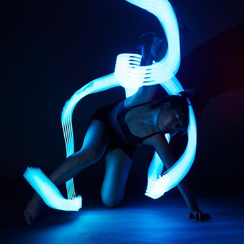 Blue lightpainting