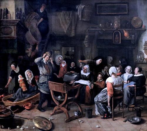 IMG_5725A Jan Havicksz Steen. 1626-1679. Les plaisirs de la paternité Pleasures of Fatherhood. 1668.  Hamburg Kunsthalle.