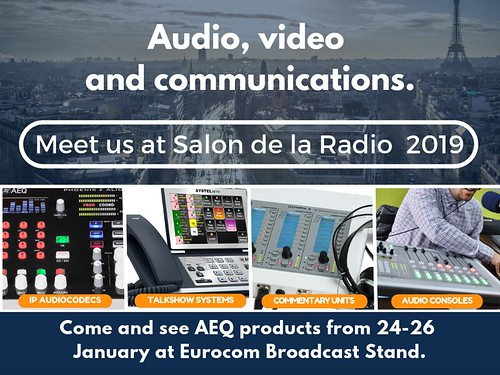 Tomorrow don't miss the chance to see our broadcast solutions at Salon de la Radio 2019, Paris.
