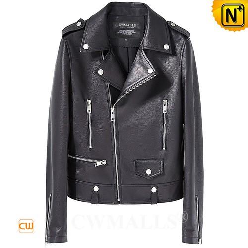 Custom Leather Jacket & Leather Backpack | CWMALLS® Boston Women Leather Moto Jacket CW619129