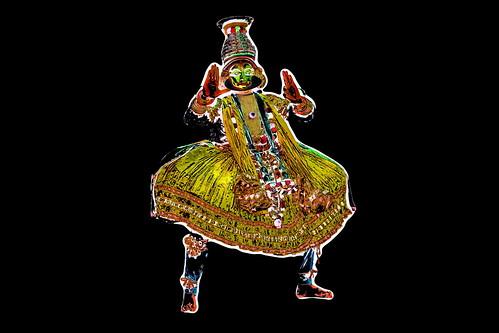 India - Kerala - Fort Kochi - Kathakali Dancer - 37dd