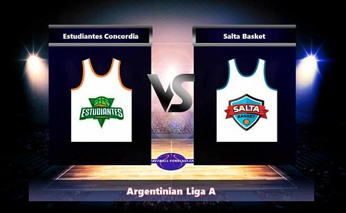 Estudiantes Concordia-Salta Basket Apr 21 2018