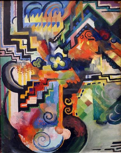 August Macke, Farbige Komposition (Hommage à Johann Sebastian Bach) - Colour composition (Homage to Johann Sebastian Bach)