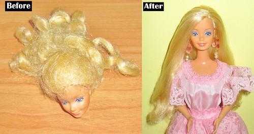1984 Peaches 'n Cream Barbie Transformation