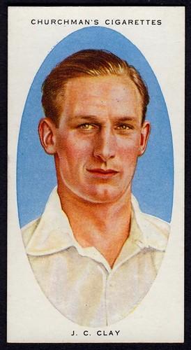 Cigarette Card - Cricketer, John Clay