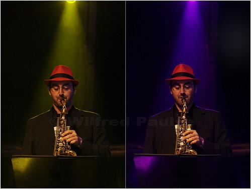_MG_7015 n 7014  Saxofonista da banda São Paulo Ska Jazz tocando no dia 02 de junho no Palco da Matriz no Bourbon Festival Paraty 2012