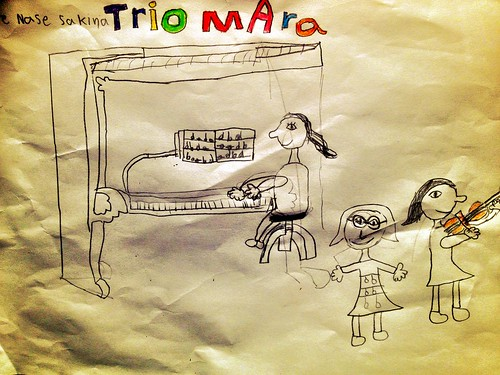 This Week: Sakina & Trio Mara, Concert Hall Recordings! (Picture painted by Ronya, 7 years old)