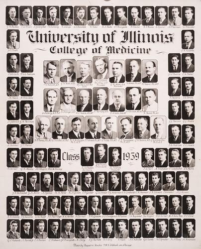 1939 graduating class, University of Illinois College of Medicine