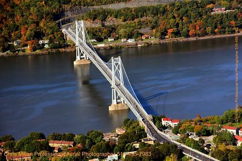 FDR BRIDGE mid Hudson  POUGHKEEPSIE NY BY CHRIS MILIAN professional aerial photographer photos NYC. New York  518-495-7983 albanyphotos@yahoo.com