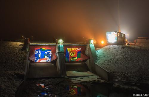 Konstnärligt Akkats Vattenkraftverk - Jokkmokk, Sverige