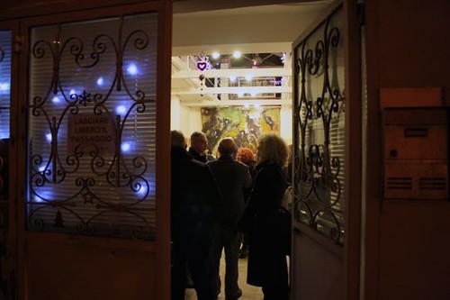 The entrance to the art gallery Quartissimo, Quartu S.Elena
