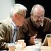 Talk: Phill Niblock, Susan Stenger and Yoshi Wada, 2012. Photo: Colin Davison. Courtesy: AV Festival 12