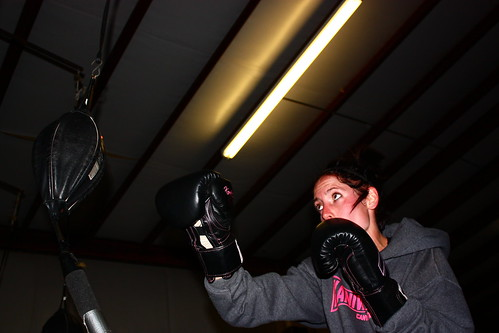 Megan Stovall practicing her knock out at Kaniwa Dojo Gym in Canyon, Tx.
