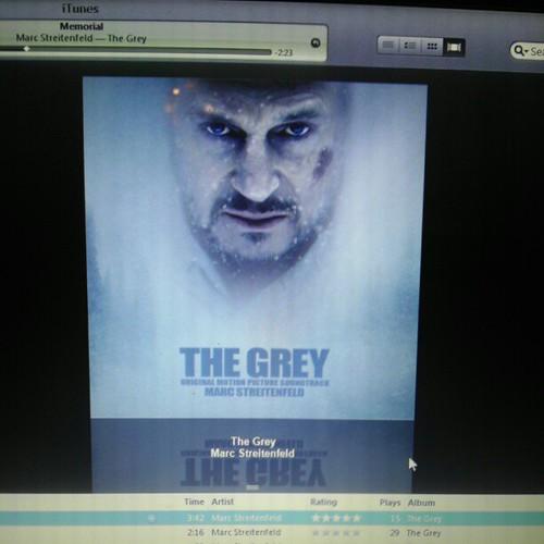 Listening to Marc Streitenfeld's The Grey #score #moviescore #instrumentalmusic