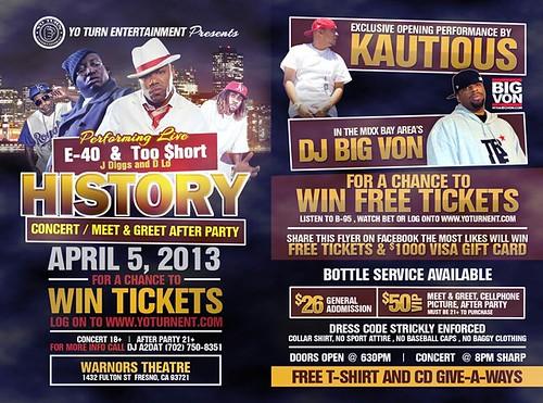 E-40 & Too Short History Concert