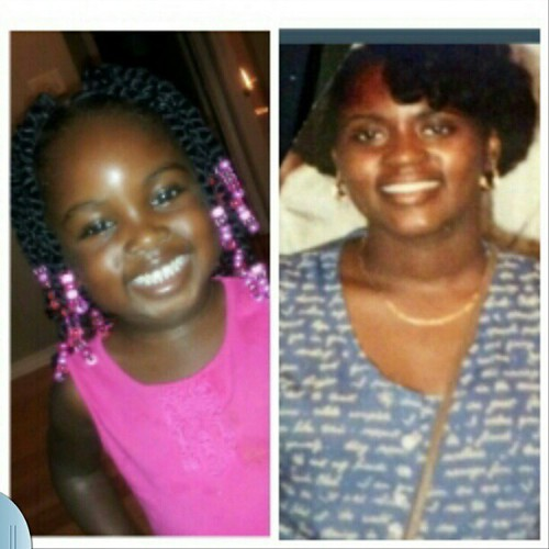 My Throw back & My little grannie heartbeat. Accused of looking like me. (Keedie) Strong Genes !!!! Lol :-)