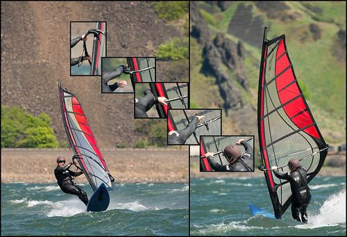 Dancing hands - the windsurfing jibe