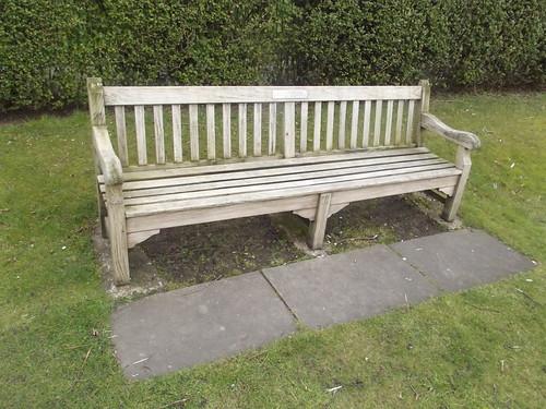 Market Street, Bromsgrove - bench - in memory of F.C. (Pat) de Paeztron