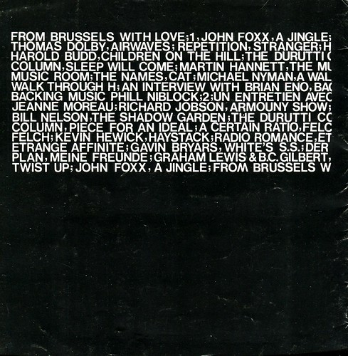 From Brussels With Love (1980) - back cover