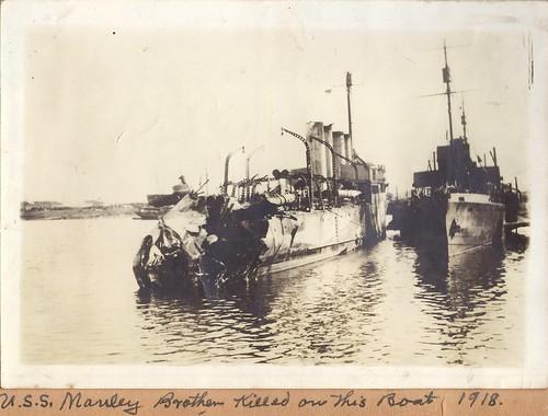 USS Manley at Haulbowline Dockyard, Cork, Ireland ~ March 1918
