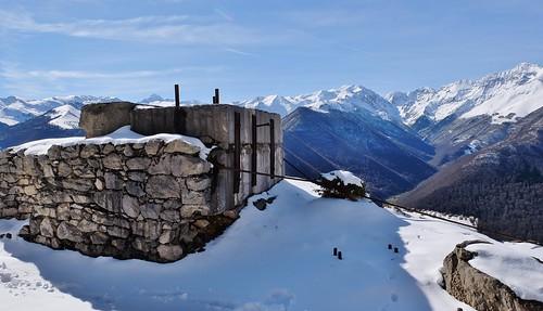 Randonnée vallée du Biros, Ariege, carriere de marbre d'Uchentein